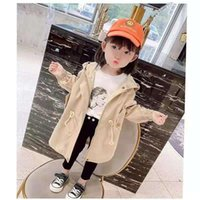 Coat Girls' Jacket Spring, Autumn And Winter Style Korean Baby Foreign Mid-length Children's Windbreaker