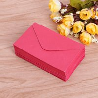 Gift Wrap D5QC 50Pcs Retro Blank Mini Paper Envelopes Wedding Party Invitation Greeting Cards