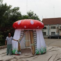 Led Advertising Giant Inflatable Balloon Mushroom Tent With Blower and LED Light For Nightclub Decoartion Or Wedding Decor