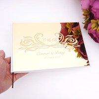 25 * 18 cm Personalizado casal nome assinatura assinatura livro romântico flores de espelho de acrílico capa personalizada presente de festa em branco