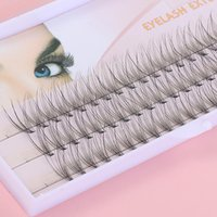 False Eyelashes 3D Fluffy Single Cluster Lashes Premade Volume Fans Individual Eyelash Segmented Natural Fake For Eye Extension