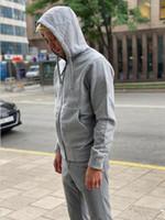 Spring New Men's Hoodie Fall / Inverno de Alta Qualidade Moda Jaqueta Tendência Padrão Bordado Moletom Com Capuz 7 Cores Tamanho M-2XL