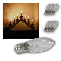 10 pz / pack / confezione E10 LED Lampadine di ricambio Top Candela Fata Luci natalizie Lampada 10V-55 V AC Caldo Bianco Decor Christmas w Qyljpl