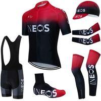 6PCS Team 2020 INOS Велоспорт Джерси 20D Велосипедные шорты Установить ROPA Ciclismo Лето Быстрый сухой Pro Велосипеда Майолот Нижний Износ