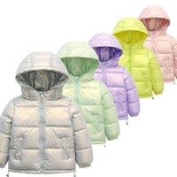 Jackets 2021 Winter Boys Down Children Hooded Outerwear Autumn Girls Warm Jacket Teens Windproof Waterproof Coat Kids