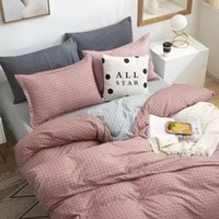 Bedding 3-piece gift pure color aloe cotton double quilts sheet 4-piece dormitory hair