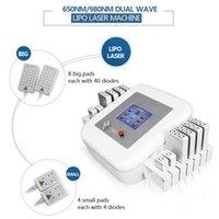 أعلى جودة الباردة lipolaser المهنية ليبو آلة الليزر 160 ميجا واط 650nm 980nm ثنائي الطول الموجي lipo الليزر آلة التخسيس تقليل السيلوليت