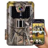 WiFi900 라이브 쇼 추적 카메라 HD 1080P 20MP 야생 생활 감시 홈 보안을위한 방수 사냥 카메라