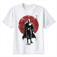 En punch man saitama sommar män t-shirt japansk anime rolig utskrift pojke kortärmad med vita mode topp tees