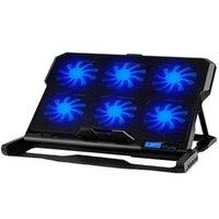 Laptopkoeling Pads Icecoorel 13-16 inch Pad Cooler Six Fan 2 USB-poorten Notebook Stand