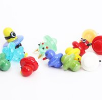 2021 Insert OD 22mm Colorful Duke Type Smoking Carb Cap Glass Spinning For Quartz Thermal Banger Water Nails Pipe Bong