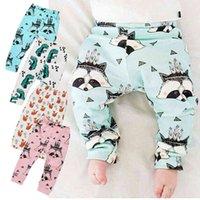 PrettyBaby Kids 6 motifs Chaînes imprimées Animal Pantalon Dessin animé Ajouter la toison bébé enfants pantalons décontractés vêtements PT0492 #