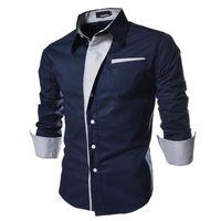 Men's Casual Shirts 2021 Clothing Long Sleeve Male 5 Colors Slim Fit Striped Thin Plus Size 3xl Mens Social Dress Shirt