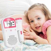 Doppler FOTAL DOPPLER 2.5M Prénatal Baby Tarif de fréquence cardiaque ménage Sonar Doppler Stéthoscope Femmes Enceintes Moniteur fœtal Doppler