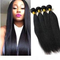 البرازيلية الماليزية العذراء الشعر 3 حزمة صفقات مستقيم موجة مستقيم غير المجهزة مزدوجة تعادل الشعر التمديد