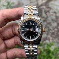 Best seller 2 tono Gold Gold Jubilee Cinturino Triangolare Pit Pattern Anello esterno Donne Orologi in acciaio inossidabile Automatico orologio meccanico 31mm Regalo perfetto