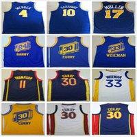 ريترو خمر كلاسيك الرجال # 24 ريك باري كريس 4 Webber Tim 10 Hardaway كريس 17 مولين كرة السلة الفانيلة 30 كاري 33 Wiseman Jersey