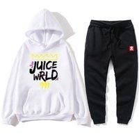 SUPZXU Nouveau Rappeur imprimé Harajuku Sweat-shirt de deux pièces avec sweat à capuche d'hiver + costume de pantalon raglan lâche