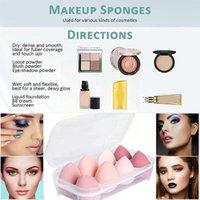 Sponges, Applicators & Cotton 8pcs Beauty Makeup Set Egg Do Not Eat Powder Box Wet Sponge Puff Dry Foundation Cushion Storage Liquid And H4R