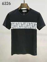Camiseta de lujo de lujo camiseta Hip Hop Hip High Camiseta de manga corta Verano Nuevo de la camiseta de algodón de los hombres de lujo al por mayor de alta calidad