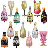 파티 대형 풍선 알루미늄 호일 도매 50pcs / lot 샴페인 위스키 웨딩 생일 와인 벨트 장식 DDCXB