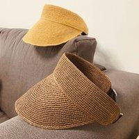2021 جديد الشمس قناع القبعات النساء ultrabraid واسعة بريم الصيف uv حماية الشاطئ كاب قابل للتعليم upf 50 + قبعة سترو السفر ديربي قابل للتعديل okdx