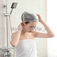 سميكة واضحة للماء مستحضرات الاستحمام قبعات للنساء Kids Girls Travel Spa Hotel