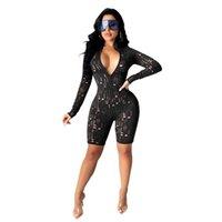 ropa ropa 9534 manga muelle mamelas sexy agujero de una pieza pantalones cortos moda bodycon flaco placa jersey cómodo club verano mujeres