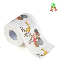 Joyeux Noël Toilette Toilette Carte d'impression créative Série Série Rouleau de papiers Fashion Funny Novelty Cadeau Eco amical portable BWA7344
