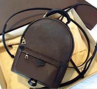 2021 Yüksek Kalite Moda Deri Mini Boyutu Bayan Çanta Eski Çiçek Sırt Çantası Bahar Lady Çanta erkek Seyahat Çantası 2 Renkler Ücretsiz Kargo