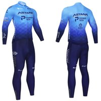 Team Astana Winter Radfahren Jersey 20d Hosen MTB MAILLOT Thermal Fleece Bikejacke Downhill Pro Mountain Bicycle Kleidung Anzug