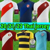 21/22 Perú Soccer Jerseys Copa America Camisetas De Fútbol Ecuador Home Jersey Farfan Cueva Lapadula Lores بيرو الرجال 2021 2022 قميص كرة القدم زي