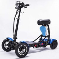 2020 Four wheel two seat mobility folding electric bicycle scooter mini smart kids folding electric scooters bike for adult Y0913