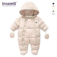 Ircomll الوليد الطفل بوي فتاة الشتاء السروال القصير طفل الرضيع طويل الأكمام بذلة القطن الطفل زي الزحف الاطفال الملابس تكلف 210911
