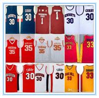 NCAA Davidson Texas College Ritter Eichen Hill High School Jersey Stephen Curry Kevin Durant Thompson Hemden Klay Washingtonstate Cougars