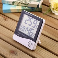 Desk & Table Clocks Creative Large Screen Household Temperature And Humidity Meter High Precision Indoor With Electronic Alarm C