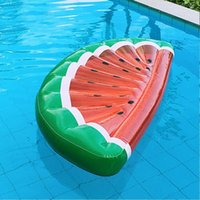 Inflatable Raft Watermelon Fruit Mode Buoyant Drifting Bed on Water Popularable Floating Row