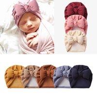 M380 Autumn Winter Infant Baby Imitation Cashmere Hat Bowknot Headwear Child Toddler Kids Beanies Turban Caps Children Warm Hat