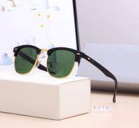 2021 Hot Lusso nuovo Brand Brand Occhiali da sole polarizzati Uomo Donna Pilota Occhiali da sole UV400 Occhiali dayewear Glasses Telaio in metallo Lente Polaroid