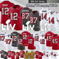 12 توم برادي 87 روب جرونكوفسكي كرة القدم الفانيلة 14 كريس جودوين 45 ديفين الرجال البيض النساء أطفال كرة القدم جيرسي