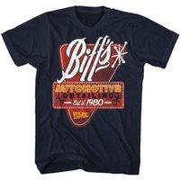 남성용 티셔츠 미국 고전은 미래로 돌아 가기 BIFFS 세부 T 셔츠 해군