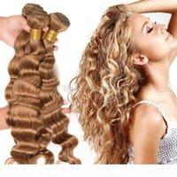 # 27 Honey Blonde Brésilien Lâche Vague Deep Vierge Vierge Cheveux Extensions 3PCS Lot Strawberry Blonde Remy Cheveux Human Hair Weave Theft 3 Bundle offres