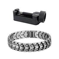 Vintage Antique Silver Color Magnetic Bracelet Tennis For Men Wristband 26pcs Magnets Charm Health Bracelets Jewelry Gift