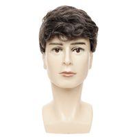 Wellenartiger Mann s Kurzhaare für Männer Toupee Hochtemperatur-Faser-synthetisches Haar-Mischfarbe für Geschäftsleute