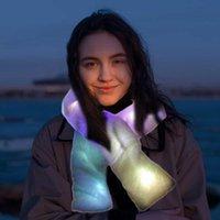 Embarcades de vacances Cade de vacances Colorful LED Foulard lumineux Léger Blanc Fourrure artificielle chaude CLASSCLUB Vêtements de Noël Accessoires