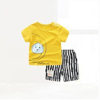Zwy1048 Summer Baby Childrens Clothing Boys Sets Casual Cotton T Shirt Pants 2pcs Kids Designer Clothes Outfit