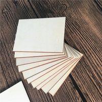 DIY деревянные чипсы чистые ручные покрашенные квадратные моды аксессуары оригинальные незаконченные женщины мужские деревянные ломтики комната 0 23ty k2