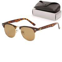 Lunettes de soleil Womans de haute qualité Verre Lentilles Luxe Mens Sun Sun Verres UV Protection design Hommes Designer Eyeglass Metal Charnière Mode Femmes Spectacles avec des boîtes d'origine 016