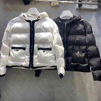 Winter Designer women down jacket coat hat is removable 98% high-end hooded bread jacket logo PD brand belt waist midi ladies top girl super warm clothes wholesale
