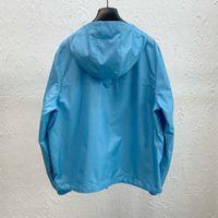 21FW Paris Italie 3D Sweats à capuche bleue Vestes Double côté Casual Street Street Poches Chaud Hommes Femmes Couple Outwear Libre Ship 0716